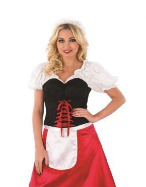 Adult Bavarian Lady Oktoberfest Costume - Back View