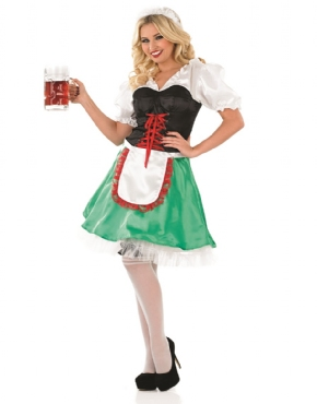 Adult Sexy Bavarian Oktoberfest Costume - Back View