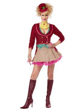 Adult Ladies Mad Hatter Costume Thumbnail