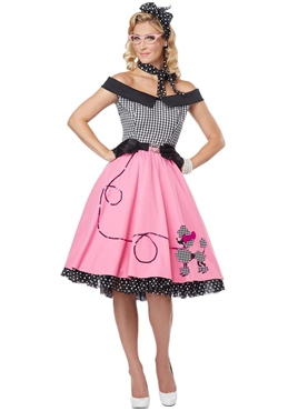 Adult Ladies Nifty 50s Poodle Dress Costume Thumbnail