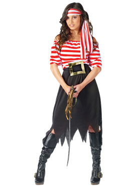 Adult Ladies Pirate Maiden Costume Couples Costume