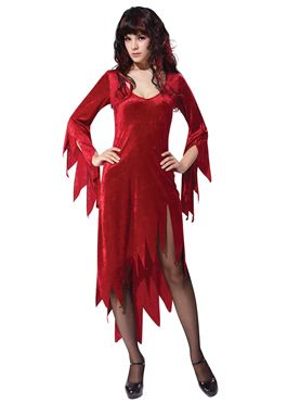 Adult Red Siren Dress Costume Thumbnail