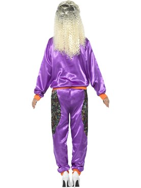 Ladies Retro Shell Suit Costume - Side View