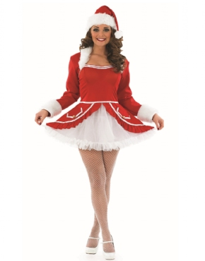 Adult Ladies Santa Baby Costume - Back View