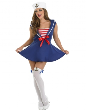 Adult Sexy Sailor Girl Costume - Back View