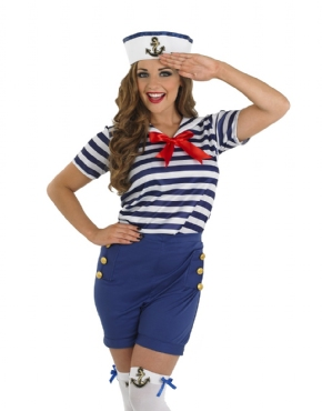 Adult Sassy Sailor Costume - Back View