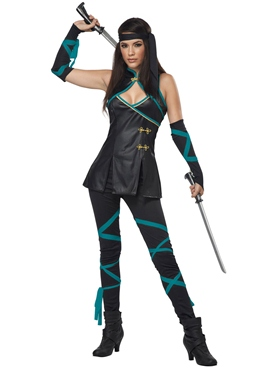 Adult Ladies Sexy Ninja Costume Thumbnail