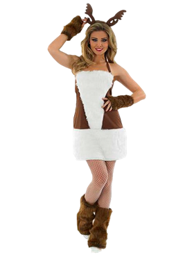 Adult Ladies Sexy Reindeer Costume Couples Costume