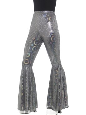 Ladies Silver Flared Trousers