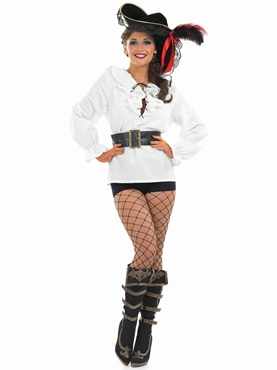Adult Ladies White Pirate Shirt
