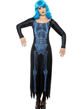 Adult Ladies X Ray Dress Costume Thumbnail