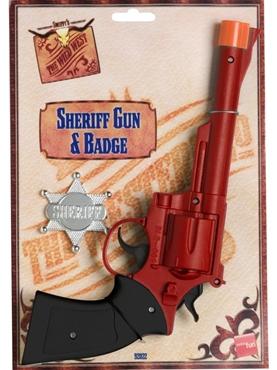 Large Sheriffs Gun And Badge Plastic