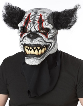Adult Last Laugh Clown Ani-Motion Mask - Back View