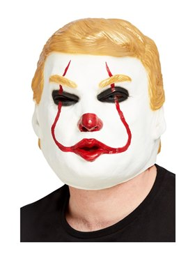 Latex Clown President Overhead Mask Couples Costume
