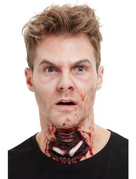 Latex Exposed Throat Wound