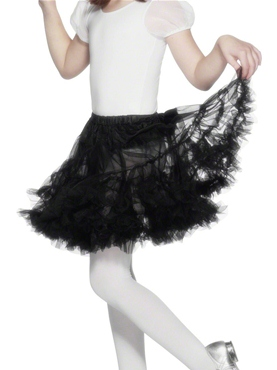 Layered Petticoat Black