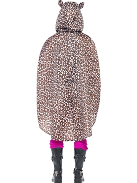 Leopard Party Poncho Festival Costume - Side View