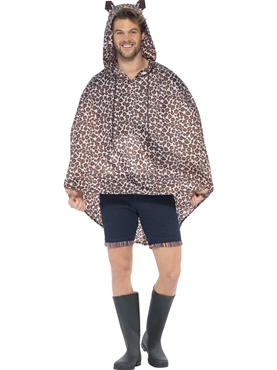 Leopard Party Poncho Festival Costume - Back View