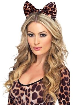 Cheetah Bow on Headband