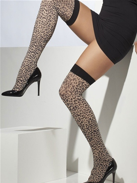 Leopard Thigh High Stockings