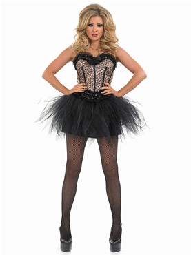 Adult Burlesque Leopard Tutu Costume - Back View