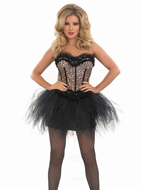 Adult Burlesque Leopard Tutu Costume