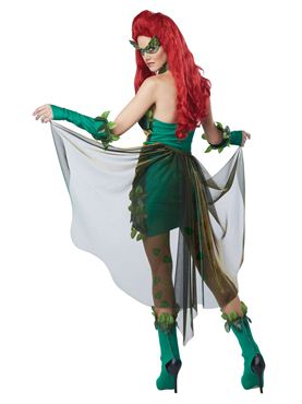 Adult Poison Ivy Lethal Beauty Costume - Back View
