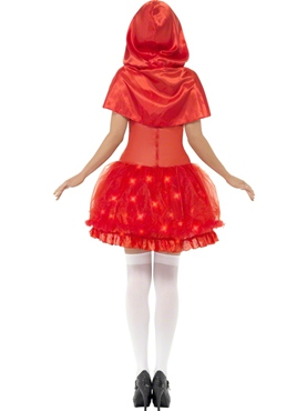Adult Light Up Red Riding Hood Costume - Side View