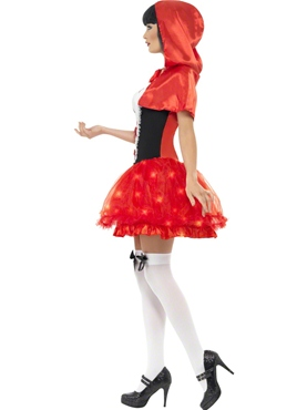 Adult Light Up Red Riding Hood Costume - Back View