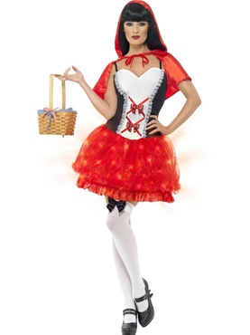 Adult Light Up Red Riding Hood Costume