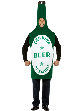 Adult Light Weight Beer Bottle Couples Costume