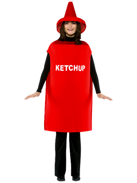 Adult Light Weight Ketchup Costume Couples Costume