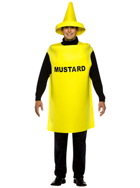 Adult Light Weight Mustard Costume Couples Costume