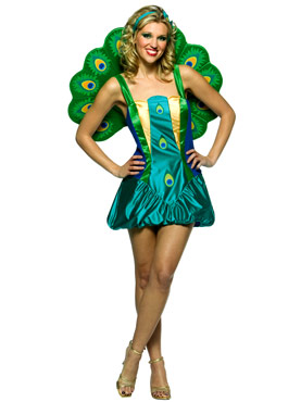 Adult Light Weight Peacock Costume Thumbnail