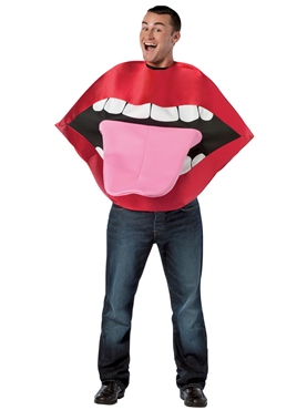 Adult Lips & Tongue Costume