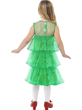 Child Little Christmas Tree Tutu Costume - Side View