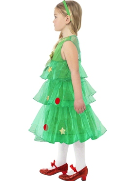 Child Little Christmas Tree Tutu Costume - Back View
