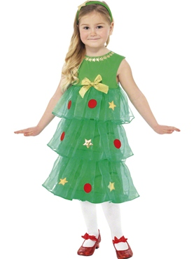 Child Little Christmas Tree Tutu Costume