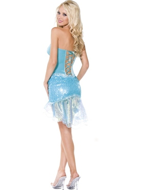 Adult Blue Mermaid Costume - Side View