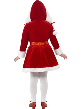 Child Little Miss Santa Costume - Side View