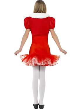 Child Little Miss Santa Tutu Costume - Side View