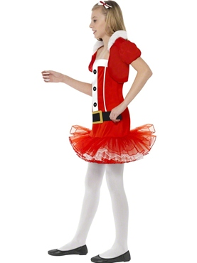 Child Little Miss Santa Tutu Costume - Back View