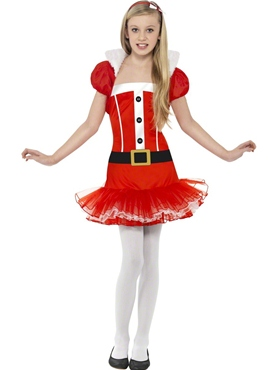 Child Little Miss Santa Tutu Costume