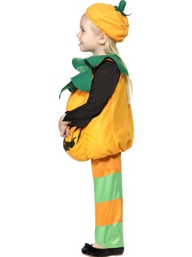 Child Little Pumpkin Toddlers Costume - Side View