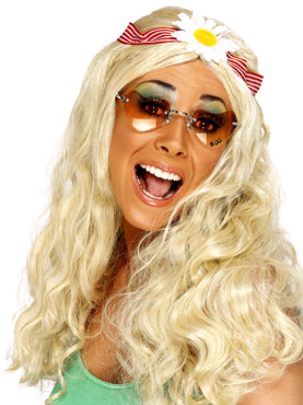 Long Groovy Wig Blonde