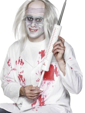 Long Jumbo Syringe White Plastic