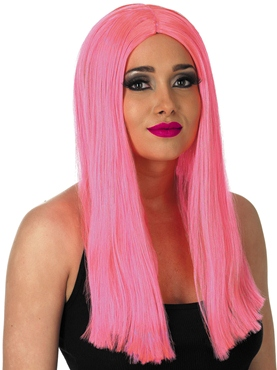 Long Neon Pink Wig