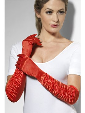 Long Temptress Gloves Red