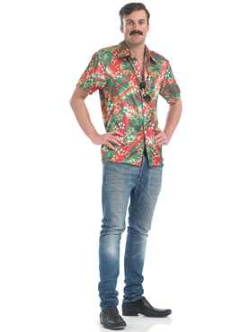 Adult Magnum Private Investigator Hawaiian Shirt - Back View