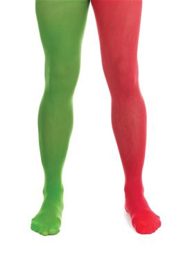 Male Elf Tights Red and Green